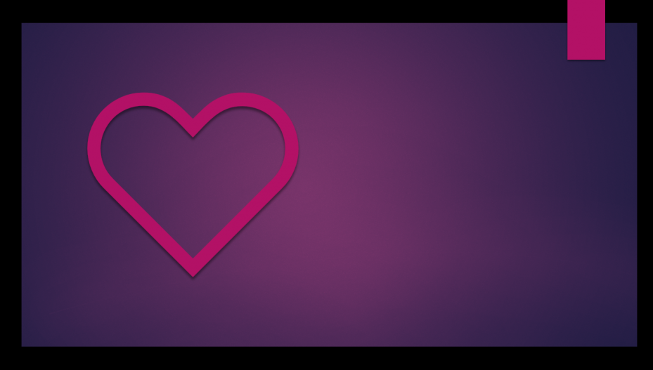 A Samaritan's Grace- Partial of a pink heart on the left side of a purple background